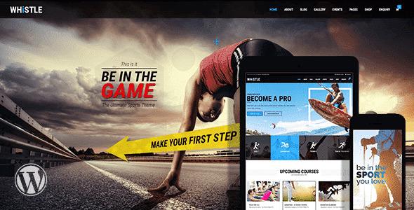 Tema Whistle Sport - Template WordPress