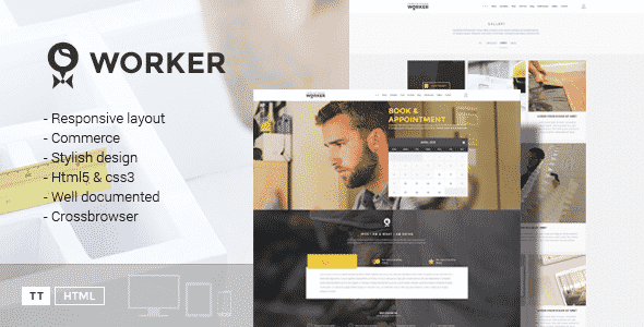 Tema Worker - Template WordPress