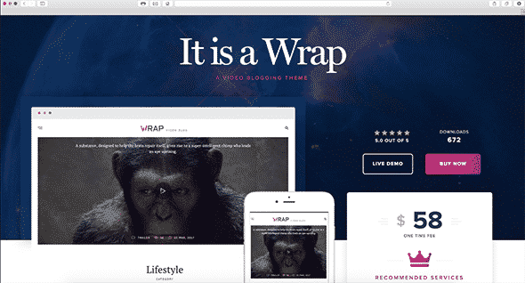 Tema Wrap - Template WordPress