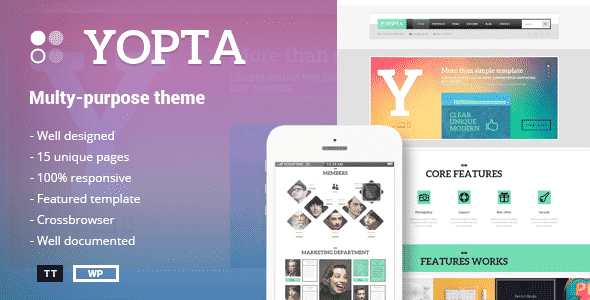 Tema Yopta - Template WordPress