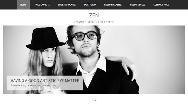 Tema Zen ZigZagPress - Template WordPress