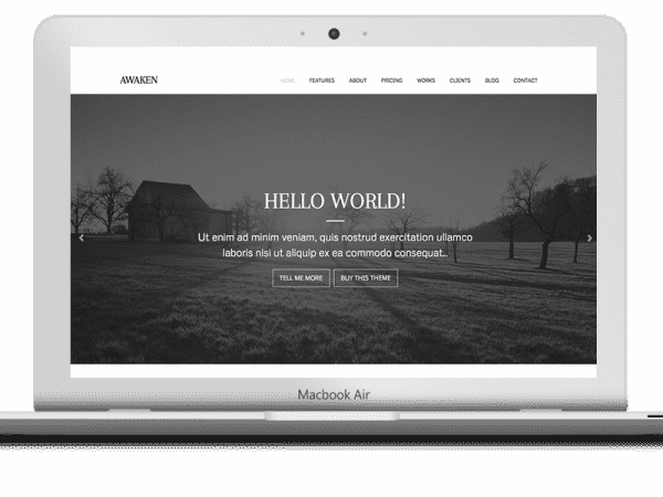 Tema Awaken - Template WordPress