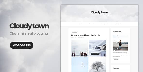 Tema Cloudy Town - Template WordPress