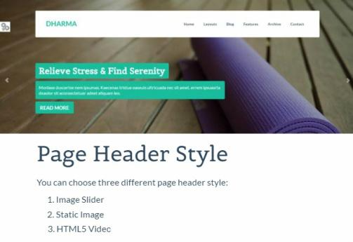 Tema Dharma - Template WordPress
