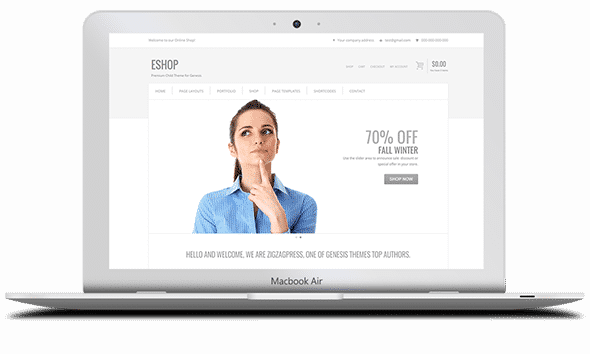 Tema Eshop - Template WordPress