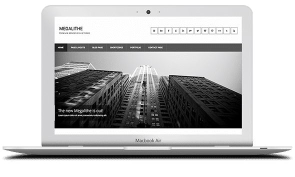 Tema Megalithe - Template WordPress