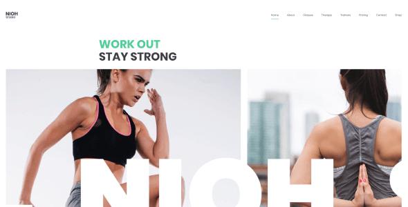 Tema Nioh Studio - Template WordPress