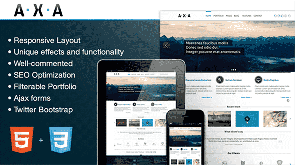 Tema Axa - Template WordPress
