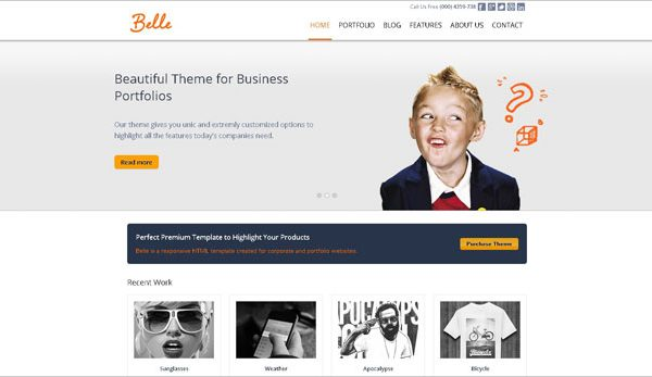 Tema Belle - Template WordPress