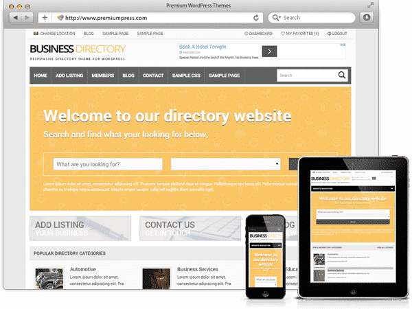 Tema Business Directory - Template WordPress