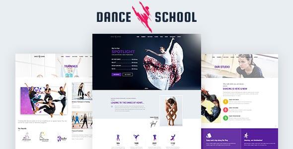 Tema Dance School - Template WordPress