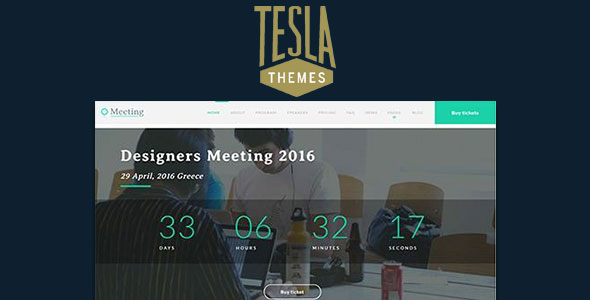Tema Meeting - Template WordPress