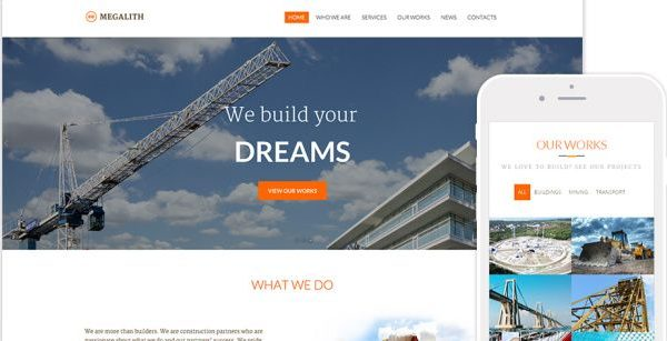 Tema Megalith - Template WordPress