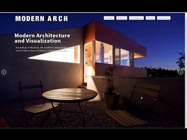 Tema Modern Arch - Template WordPress