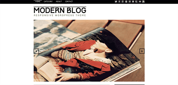 Tema Modern Blog - Template WordPress