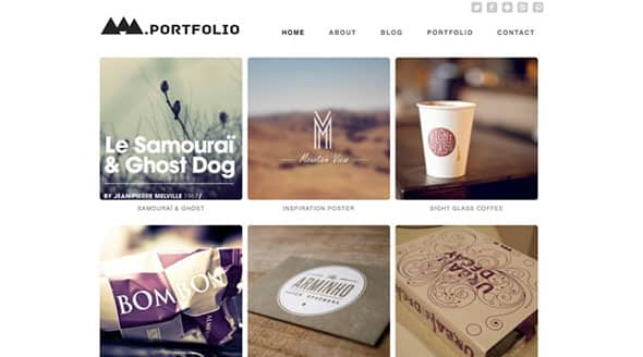 Tema Modern Portfolio Dessign - Template WordPress
