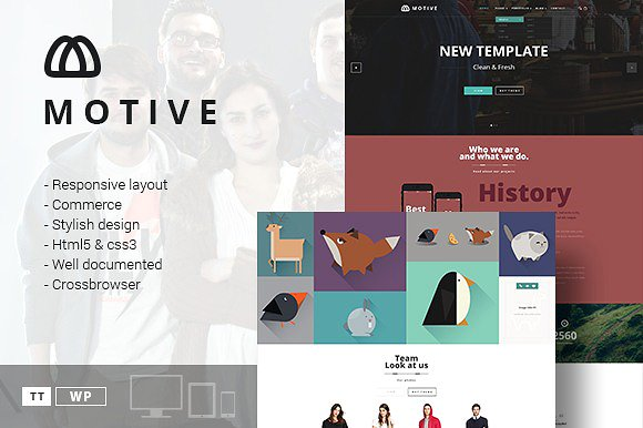 Tema Motive TeslaThemes - Template WordPress