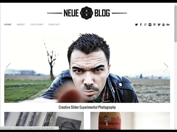Tema Neue Blog - Template WordPress