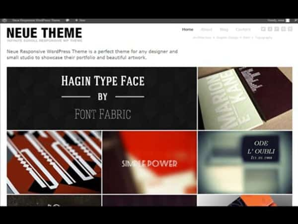 Tema Neue Dessign - Template WordPress