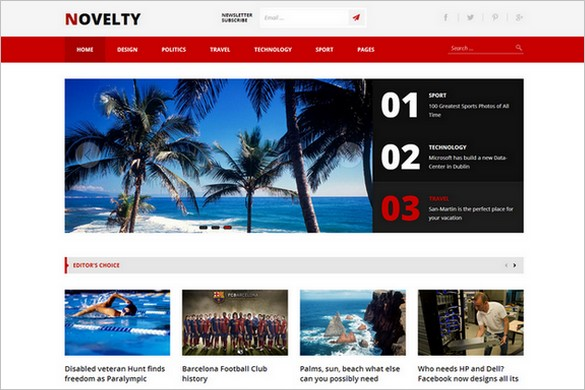 Tema Novelty - Template WordPress