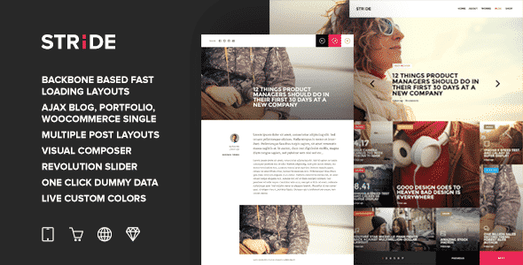 Tema Stride - Template WordPress