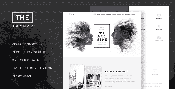 Tema The Agency - Template WordPress