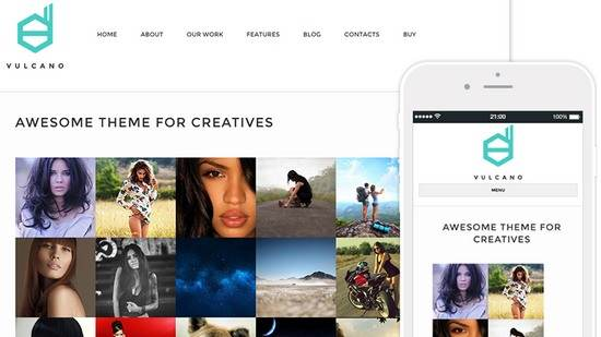 Tema Vulcano - Template WordPress
