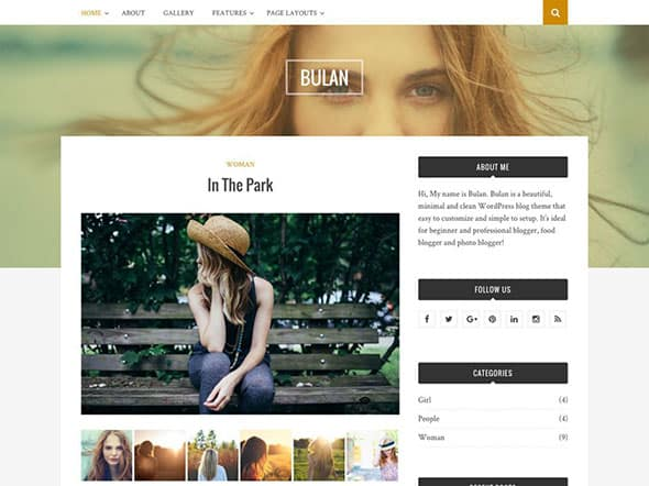 Tema Bulan - Template WordPress