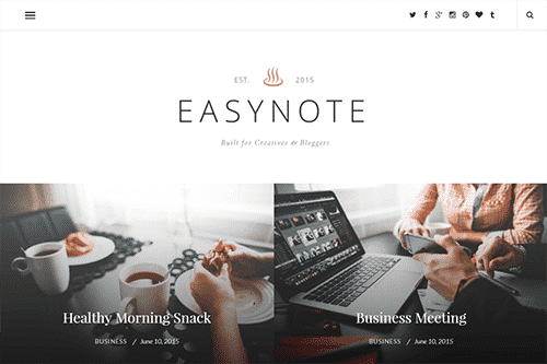 Tema EasyNote - Template WordPress