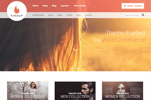 Tema FireUp - Template WordPress