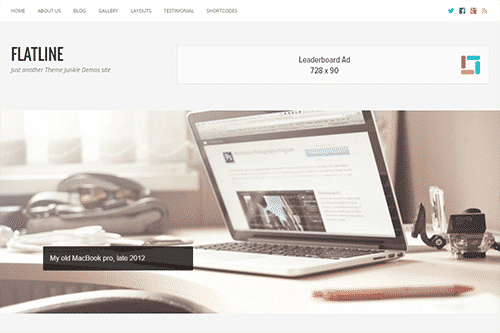 Tema Flatline - Template WordPress