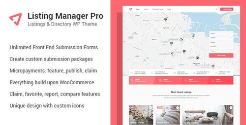 Tema Listing Manager Pro - Template WordPress