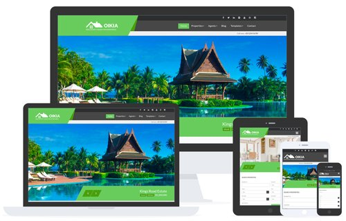 Tema Oikia - Template WordPress