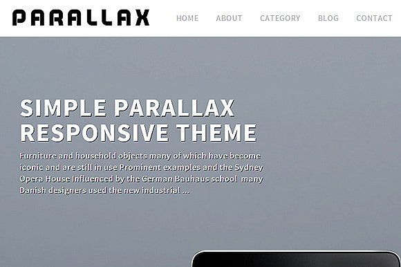 Tema Parallax Dessign - Template WordPress