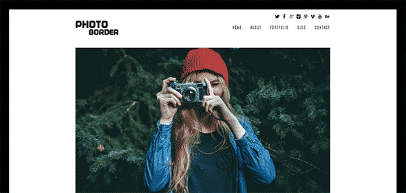 Tema Photo border - Template WordPress