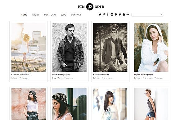 Tema Pin Grid - Template WordPress