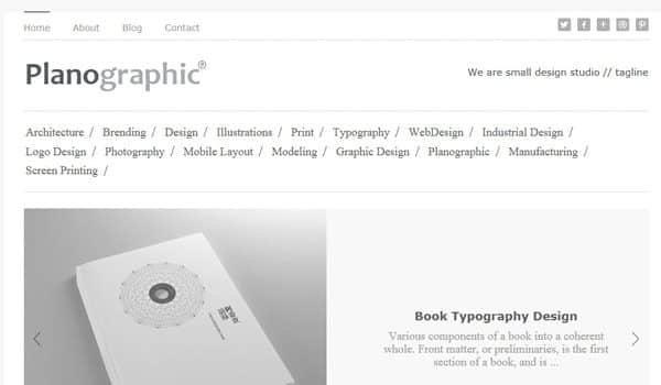 Tema Planographic - Template WordPress