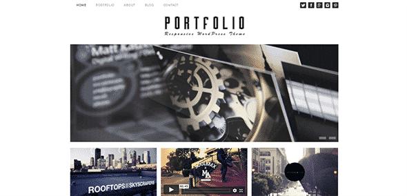 Tema Portfolio Dessign - Template WordPress