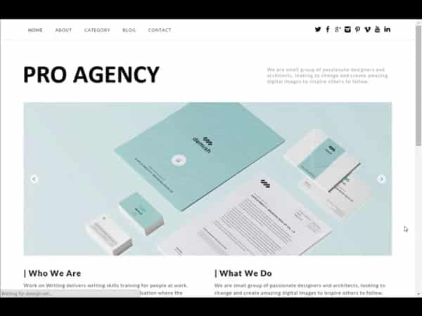 Tema Pro Agency - Template WordPress