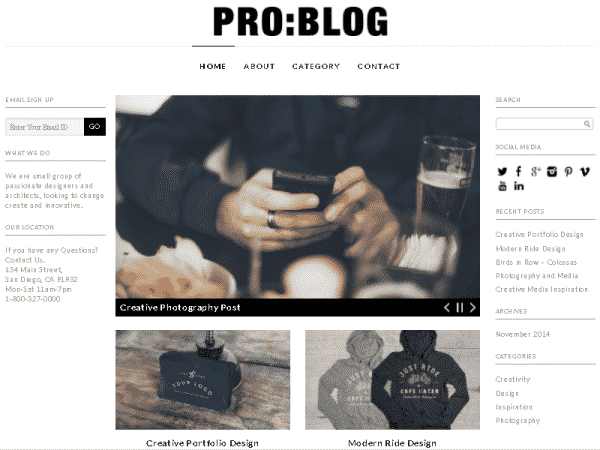 Tema Pro Blog - Template WordPress