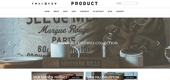 Tema Product WooCommerce - Template WordPress