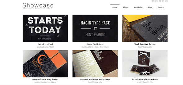 Tema Showcase Dessign - Template WordPress