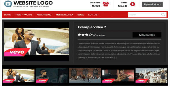 Tema Video PremiumPress - Template WordPress