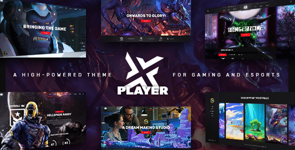 TEma PlayerX - TEmplate WordPress