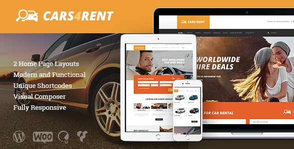 Tema Cars4Rent - Template WordPress
