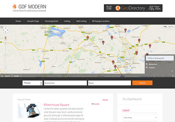 Tema Gdf Modern - Template WordPress