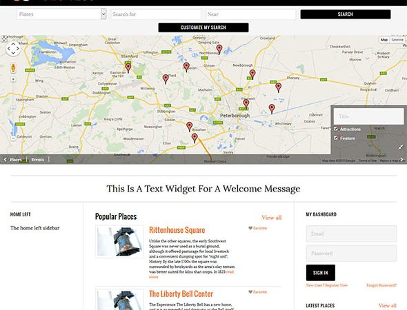 Tema Geo 1280 - Template WordPress