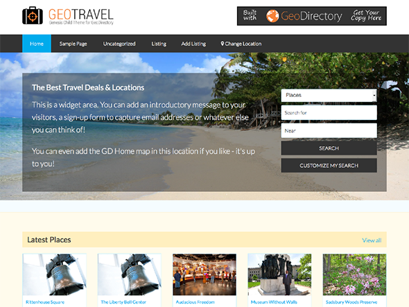 Tema Geo Travel - Template WordPress