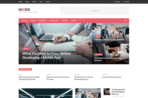 Tema Insido - Template WordPress