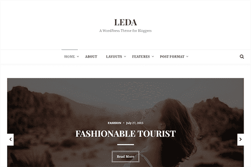 Tema Leda - Template WordPress